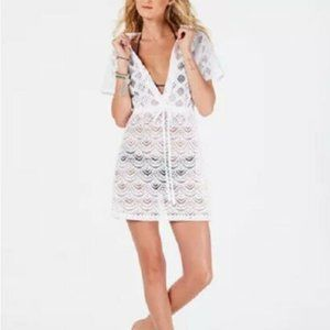 Dotti Sea Scallop Crochet Swimsuit Cover-Up Dress
